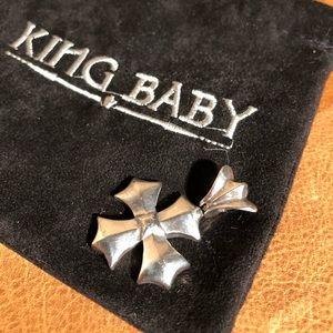 King Baby Iron Cross Pendant 925 VINTAGE